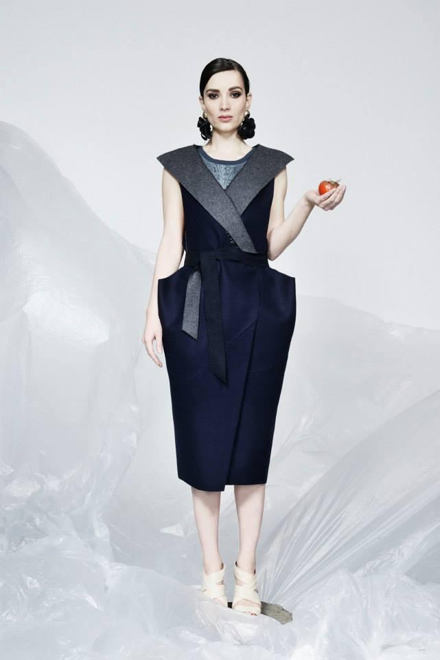 Woolen Waistcoat: Prototype 23 top: Dilyana Ivanova earrings: Jina Sheovska