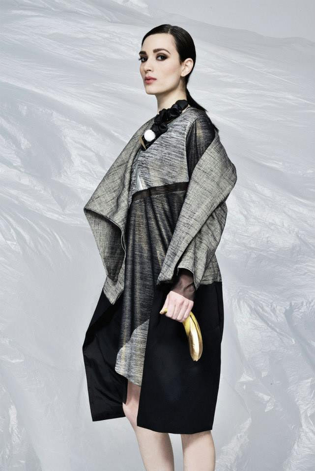 dress: Prototype 23  coat: Rosica mrsic necklace: Jina Sheovska